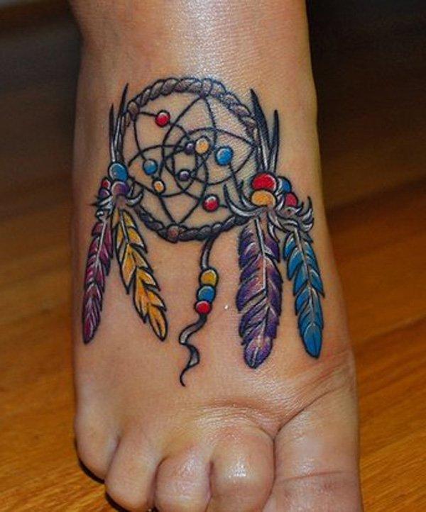 50+ Striking Feminine Dream-catcher Tattoos-great (25)