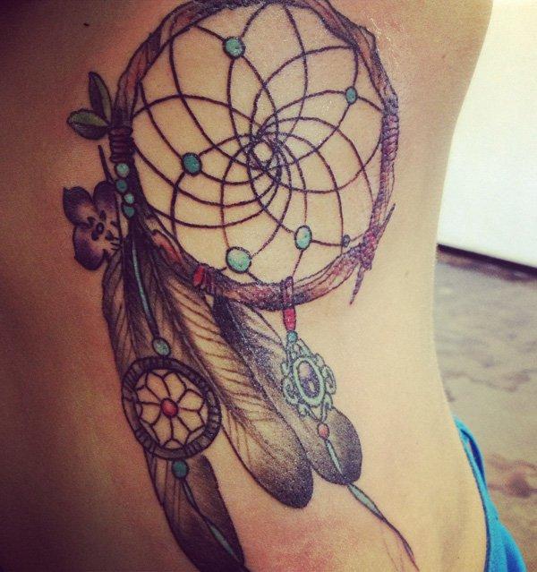 50+ Striking Feminine Dream-catcher Tattoos-great (30)