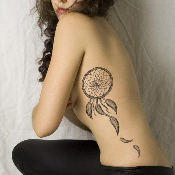 50+ Striking Feminine Dream-catcher Tattoos-great (34)