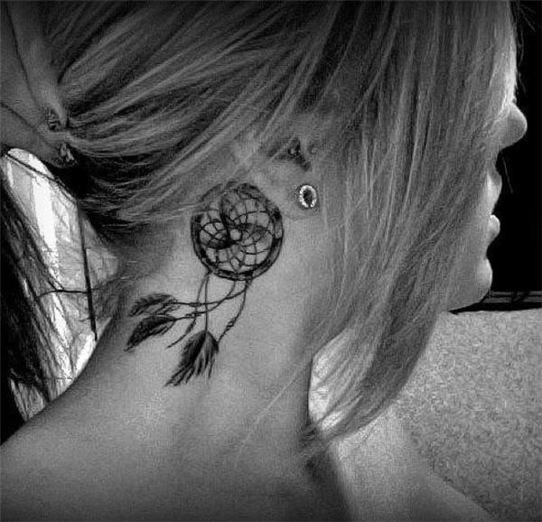 50+ Striking Feminine Dream-catcher Tattoos-great (36)