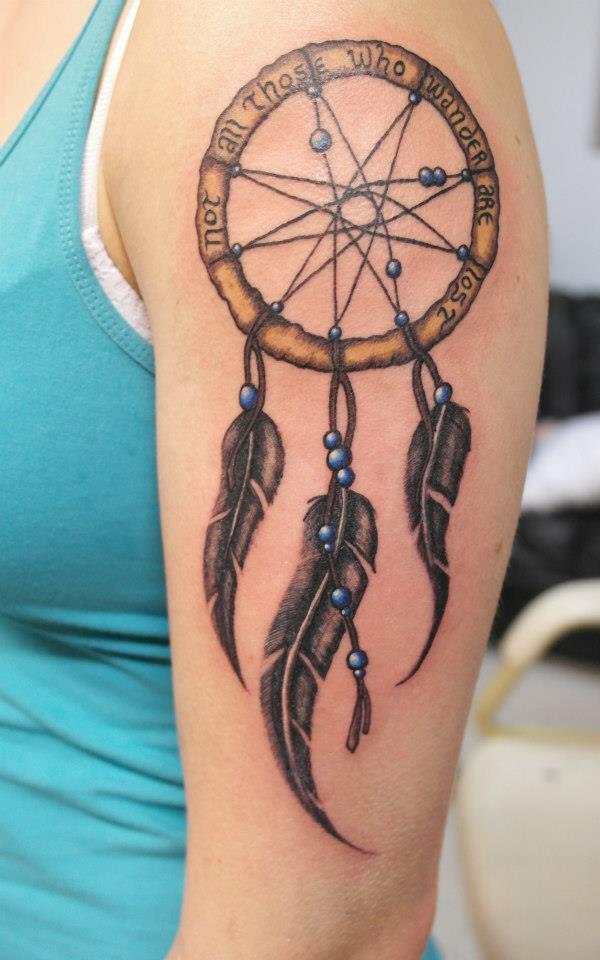 50+ Striking Feminine Dream-catcher Tattoos-great (4)