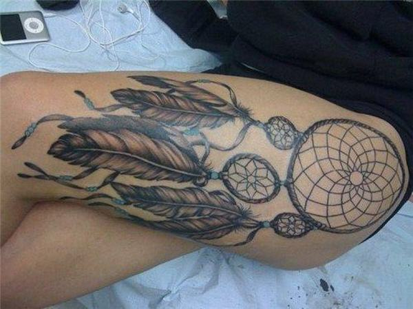 50+ Striking Feminine Dream-catcher Tattoos-great (42)