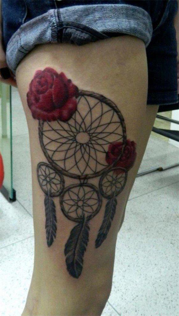 50+ Striking Feminine Dream-catcher Tattoos-great (46)