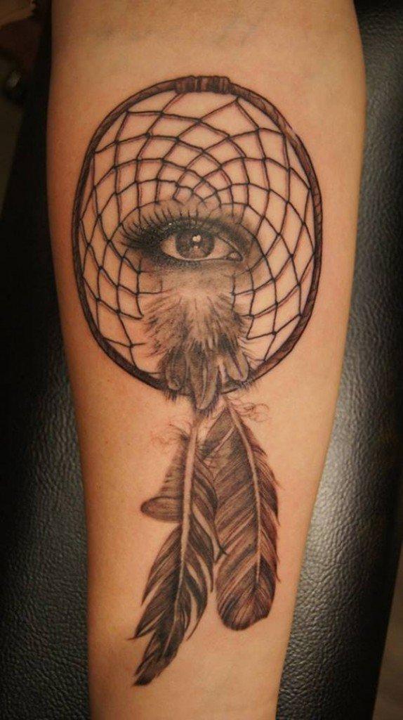 50+ Striking Feminine Dream-catcher Tattoos-great (47)