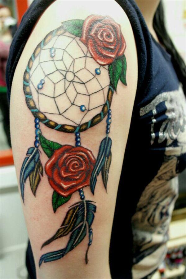 50+ Striking Feminine Dream-catcher Tattoos-great (8)