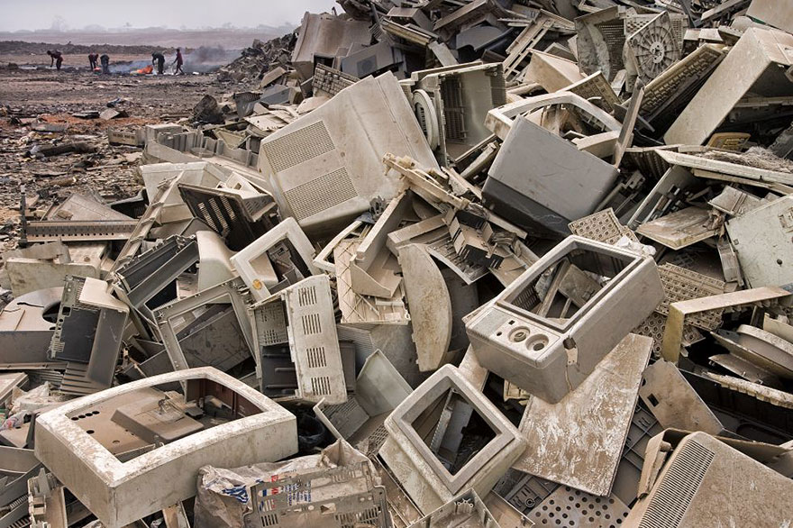Landfill in Accra (Ghana). Our electronic rubbish usually ends up in Third-World countries