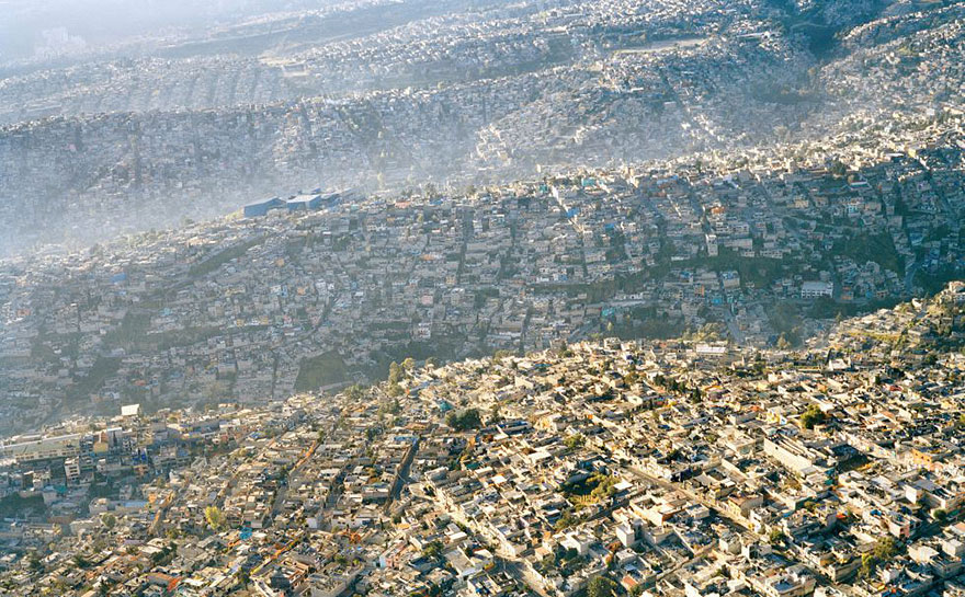 Mexico City landscape, 20 million inhabitants