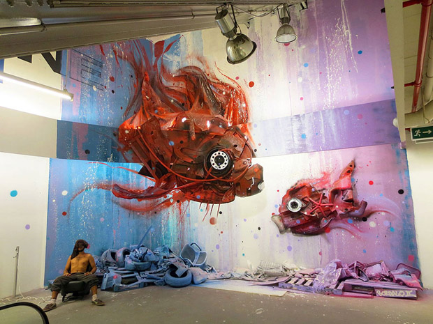 Amazing Animal Sculptures from Recycled Materials (14)