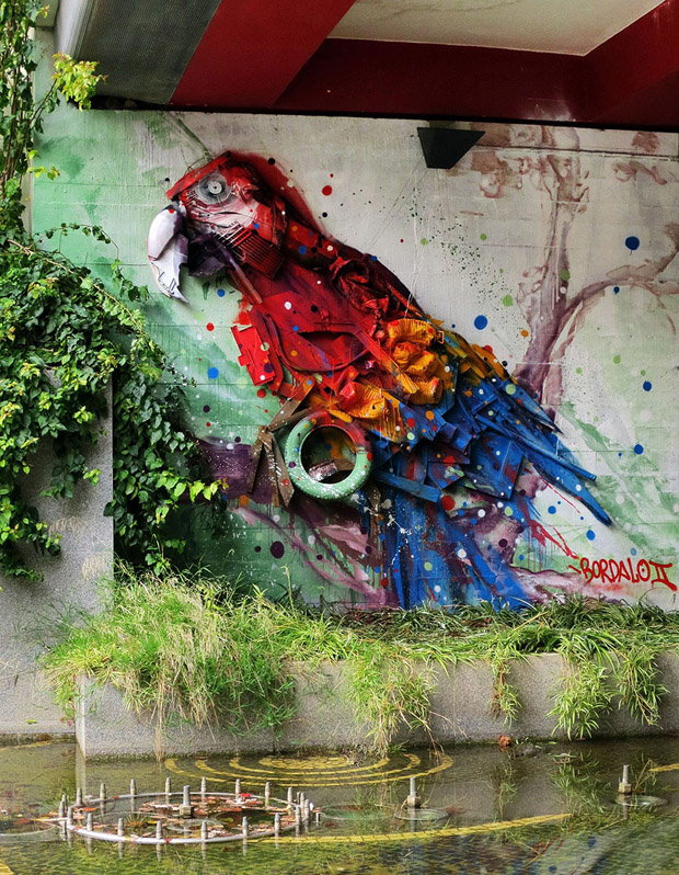 Amazing Animal Sculptures from Recycled Materials (7)