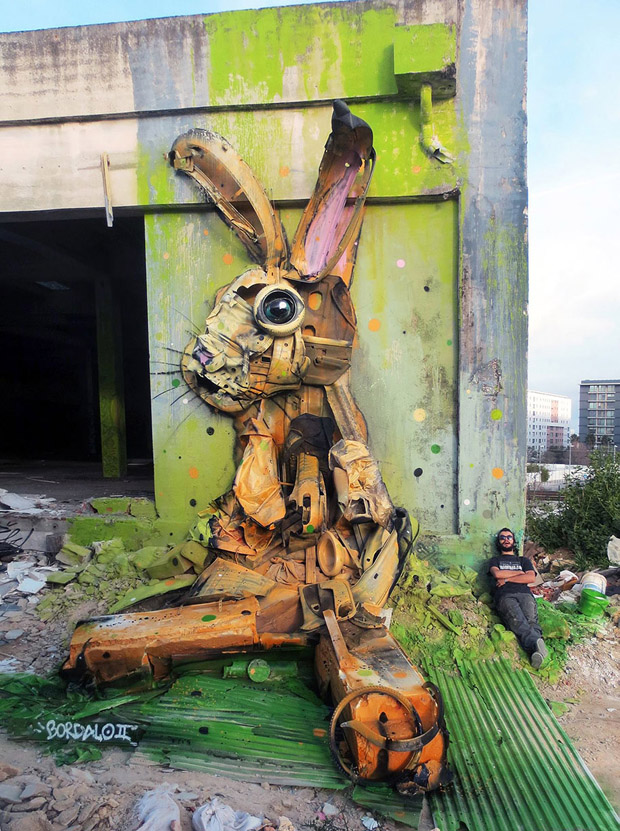 Amazing Animal Sculptures from Recycled Materials (8)