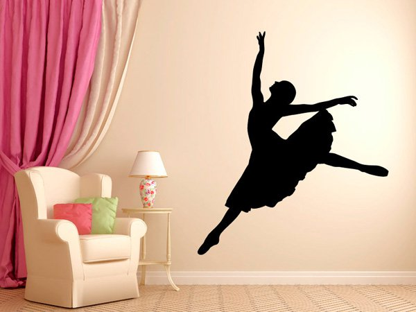 Beautiful Wall Design Ideas-Ballerina-Dancer-Ballet-Wall-Decal