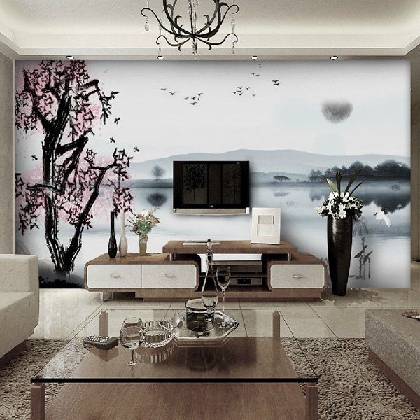 Beautiful Wall Design Ideas-Bamboo-Wall-Decals-Murals