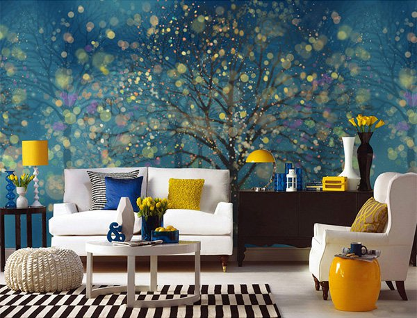 Beautiful Wall Design Ideas-Fantasy-Forest-Wallpaper