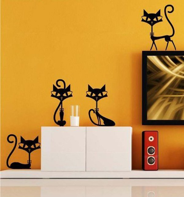 Beautiful Wall Design Ideas-Gotomore-Black-Cats-Sticker-Wall-Decal-Home-Decor-for-Bar-Living-Room-Bed-Room-Stairs-Study