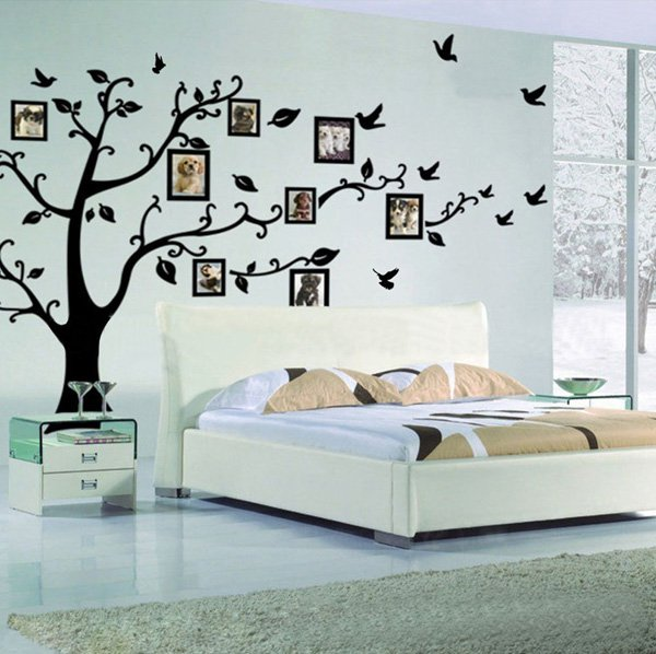 Beautiful Wall Design Ideas-Memory-Tree-Photo-Tree-Wall-Vinly-Decal-Decor-Sticker-Removable-Wall-Decal-for-Living-Room