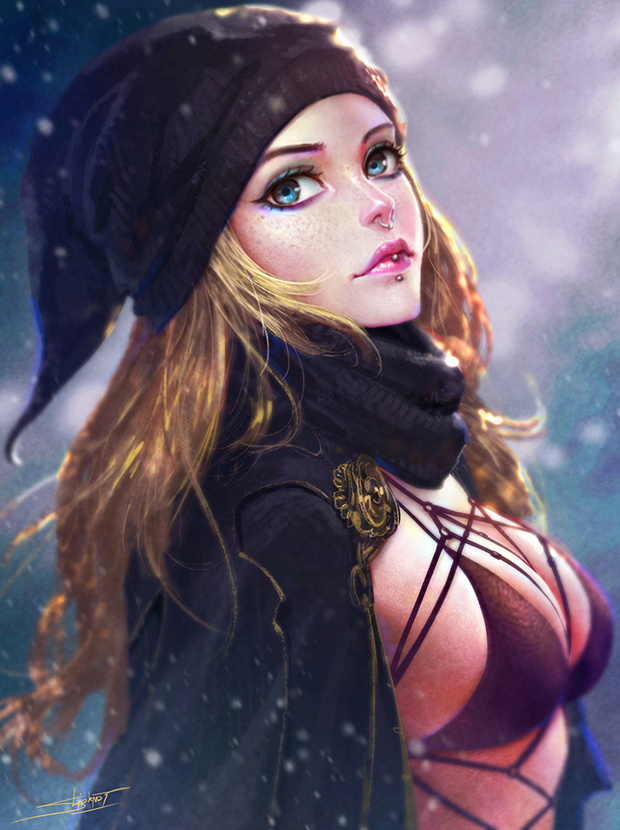 Fantasy Girl  Digital Art by Nudtawut Thongmai  (13)