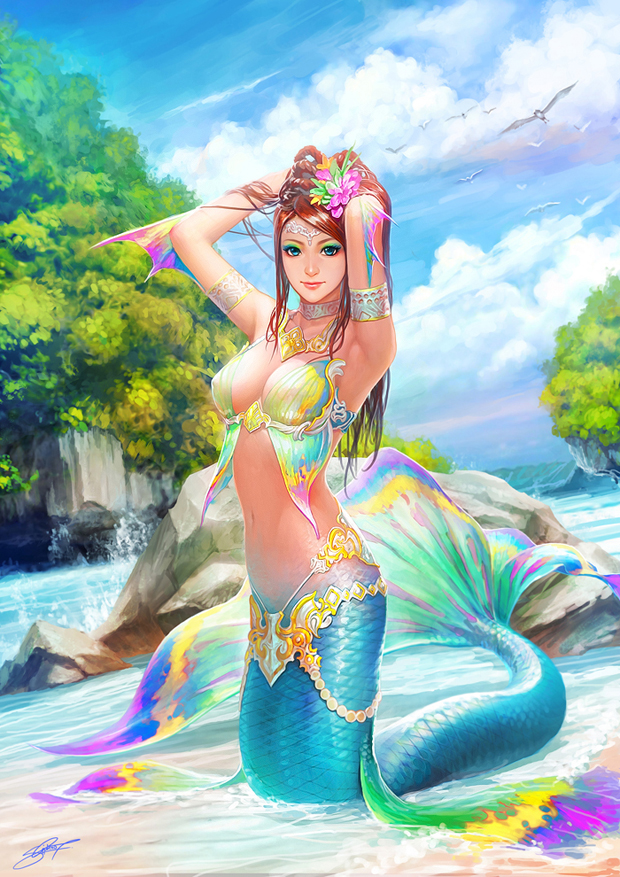 Fantasy Girl  Digital Art by Nudtawut Thongmai  (6)