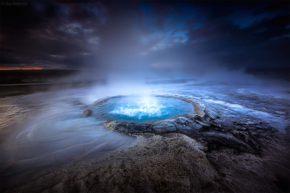 bubbling-geyser-iceland by Alban Henderyckx