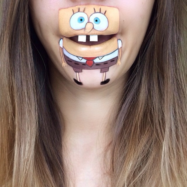 Creative Cartoon Character Lip Art By Lauren Jenkinson (13)