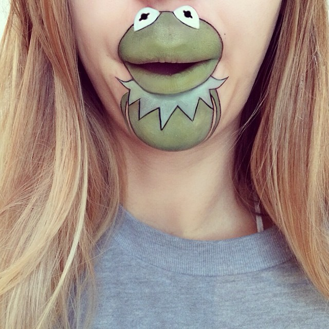 Creative Cartoon Character Lip Art By Lauren Jenkinson (14)