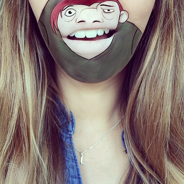 Creative Cartoon Character Lip Art By Lauren Jenkinson (16)