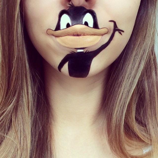 Creative Cartoon Character Lip Art By Lauren Jenkinson (3)