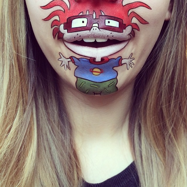 Creative Cartoon Character Lip Art By Lauren Jenkinson (4)