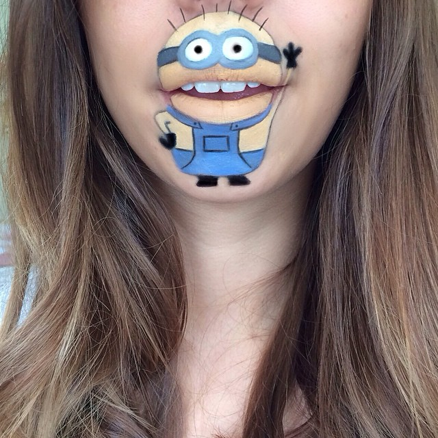 Creative Cartoon Character Lip Art By Lauren Jenkinson (6)