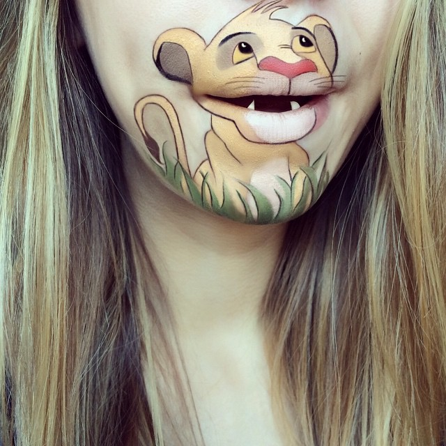 Creative Cartoon Character Lip Art By Lauren Jenkinson (9)