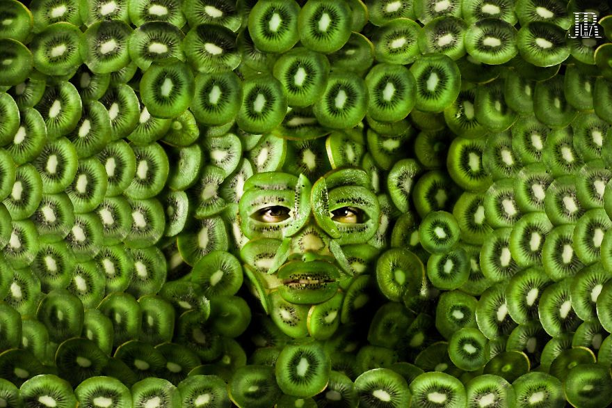 Models Turn into their Most Loved Foods in Food Face Photography (9)