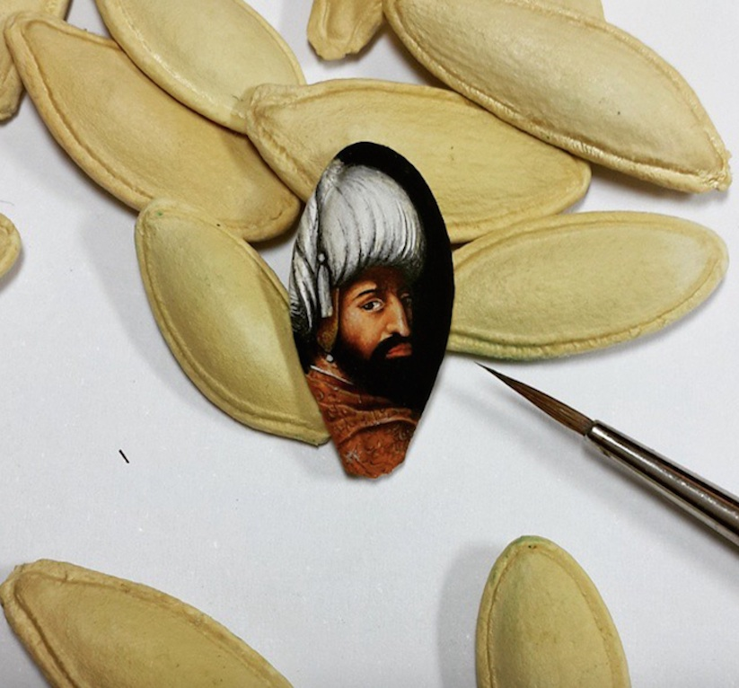 Stunning Tiny Micro Paintings by Hasan Kale (4)
