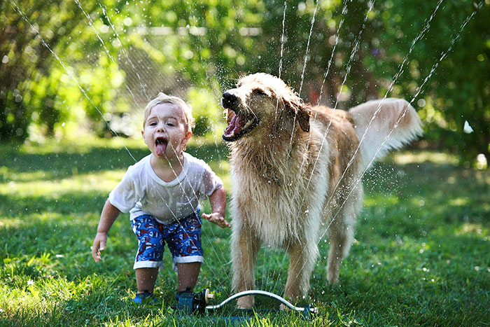 Adorable Photos kids with dog (2)