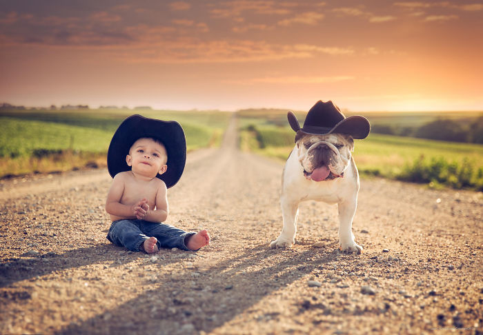 Adorable Photos kids with dog (5)