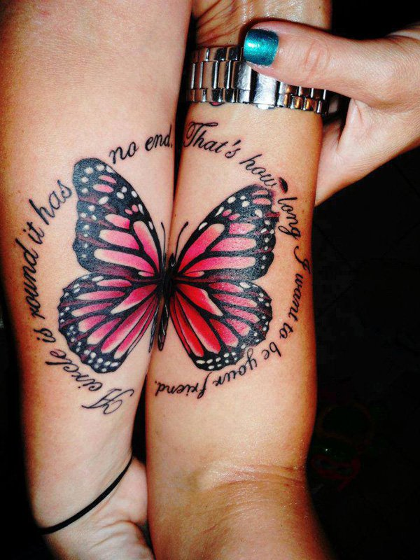 Best Matching Tattoo Ideas-Butterfly-matching-tattoos