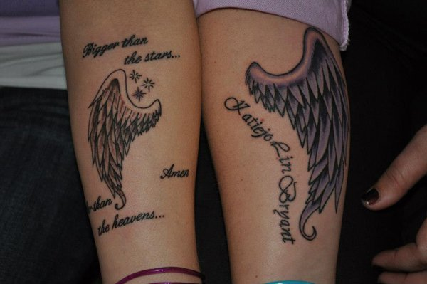 Best Matching Tattoo Ideas-angel-wiang-matching-tattoos
