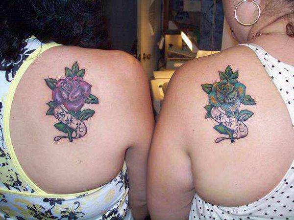 Best Matching Tattoo Ideas-custom-matching-rose-tattoos