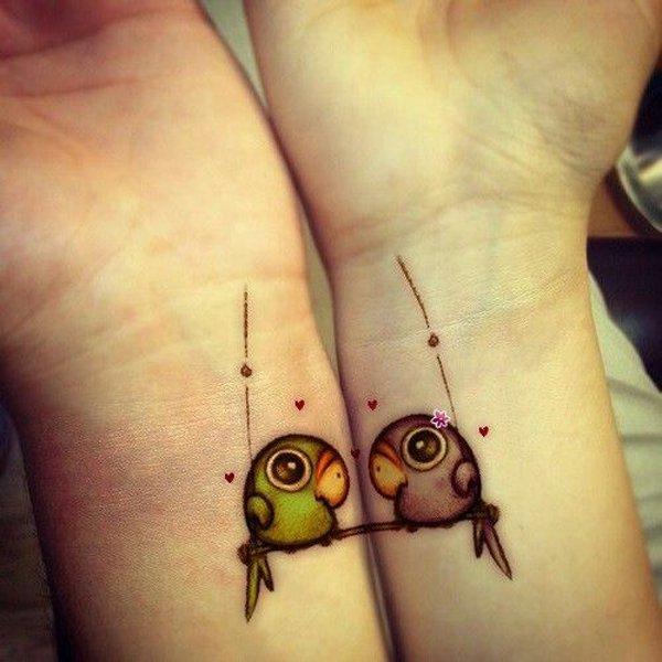 Best Matching Tattoo Ideas-cute-matching-tattoo-ideas1
