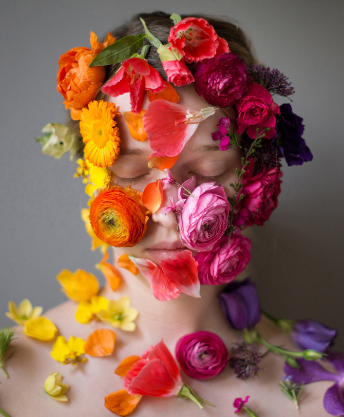 Flower Face photography by Kristen Hatgi Sink (2)