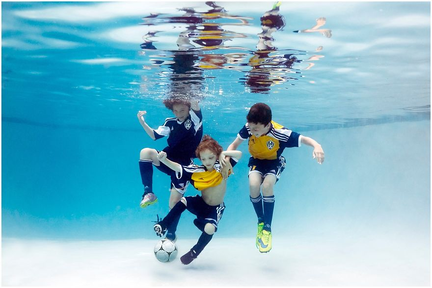 Kids Playing Favourite Games in Swimming Pool by Alixmartinez (7)