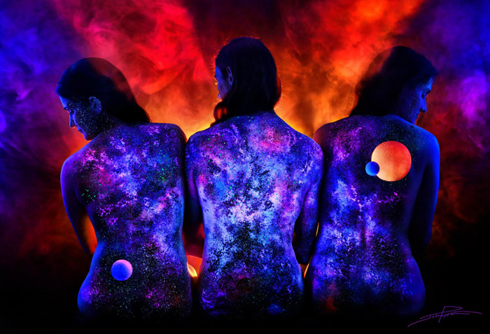 Under Black light Body Painting by John Poppleton (4)
