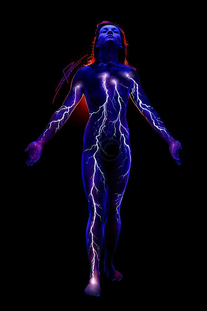 Under Black light Body Painting by John Poppleton (8)