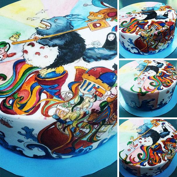 Adorable Totoro Cakes (5)
