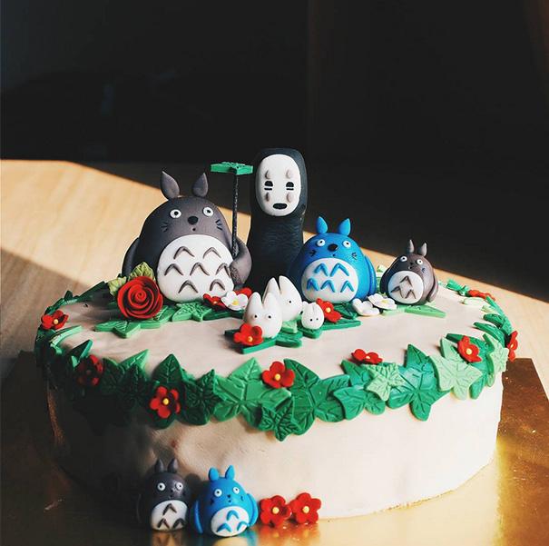 Adorable Totoro Cakes (6)