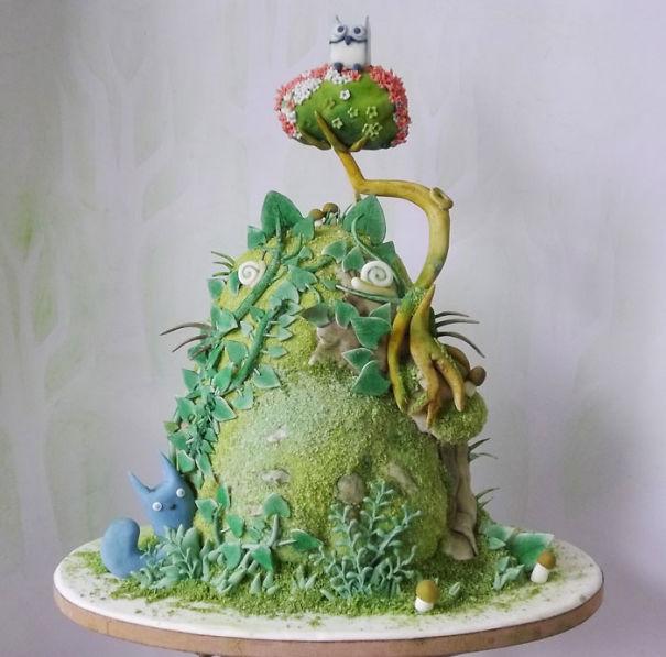Adorable Totoro Cakes (7)