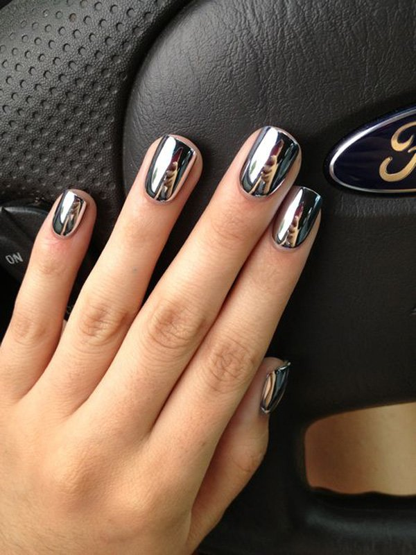 Lovely Metallic Nail Polish Ideas (27)