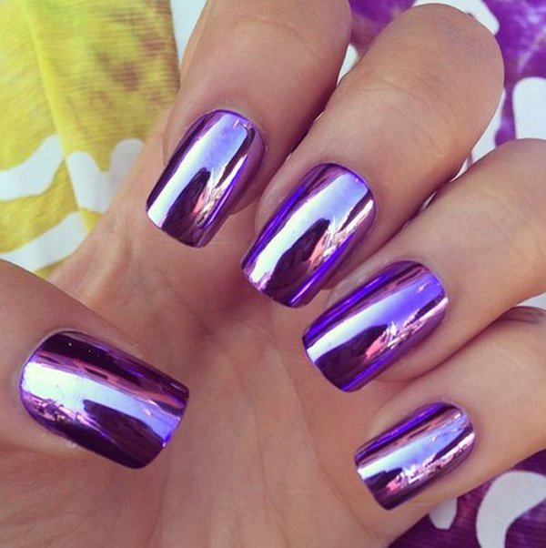Lovely Metallic Nail Polish Ideas (50)