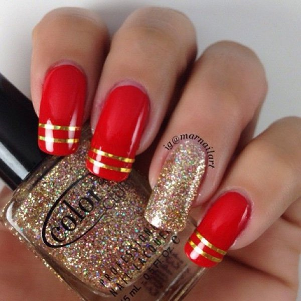 Lovely Metallic Nail Polish Ideas (51)