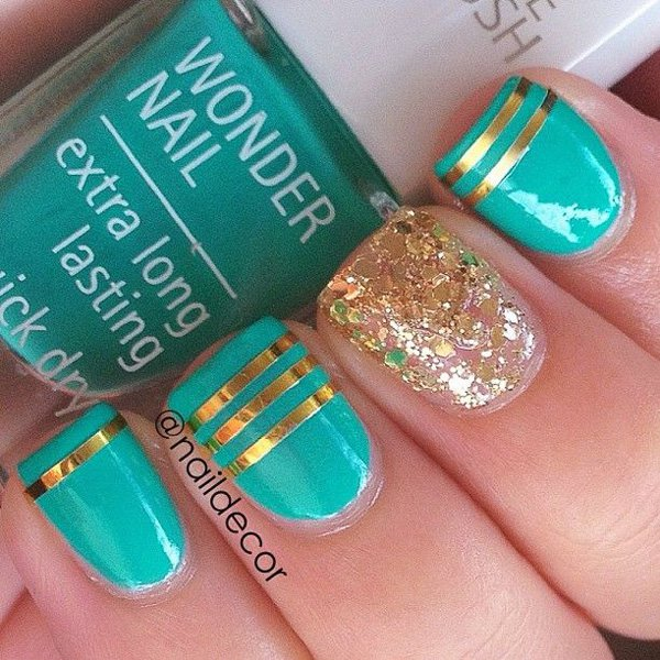 Lovely Metallic Nail Polish Ideas (8)