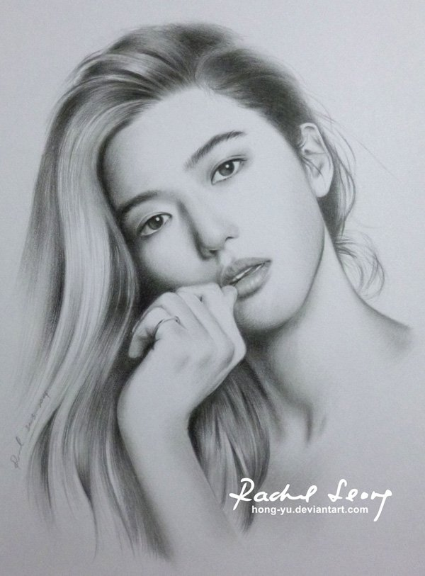 Pencil Drawings of Celebrities Portraits By Leong Hong Yu (13)