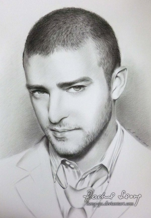 Pencil Drawings of Celebrities Portraits By Leong Hong Yu (14)
